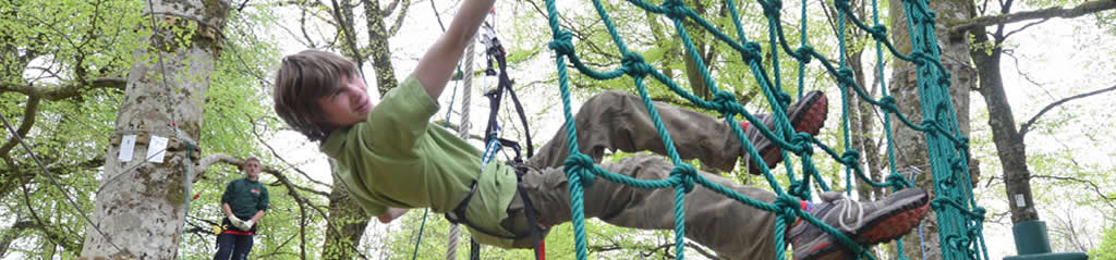 Boy on Zipit Ropes Lough Key Forest Park