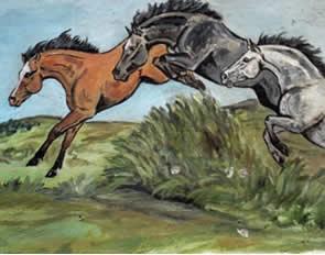 Peinture équestre de Ginou